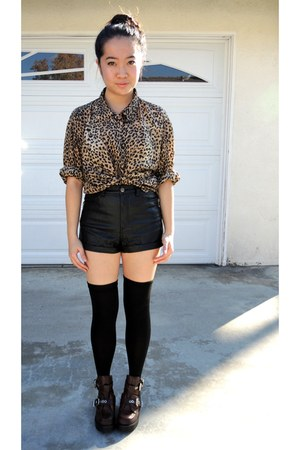 leather shorts coltrane jeffrey cbell boots thigh