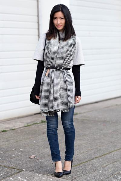 scarf, belt, dress