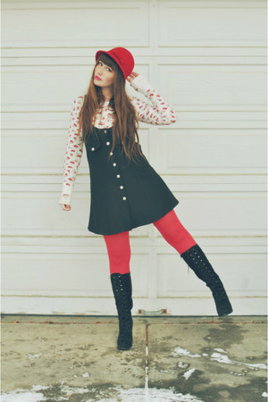Black Lace Up Boots Forever 21 Boots Red Hat Walmart Hats